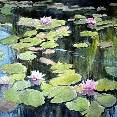 Fish Trail, Giverny - Pamela Jane Rogers - Visual Artist & Author
