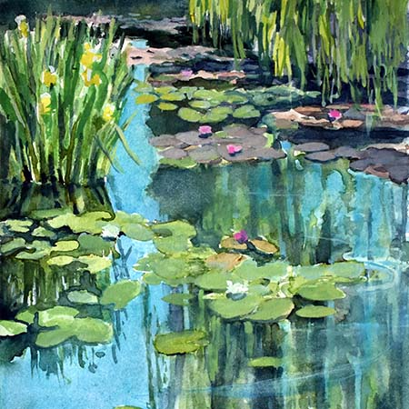 Lily Pond, Giverny - Pamela Jane Rogers - Visual Artist & Author