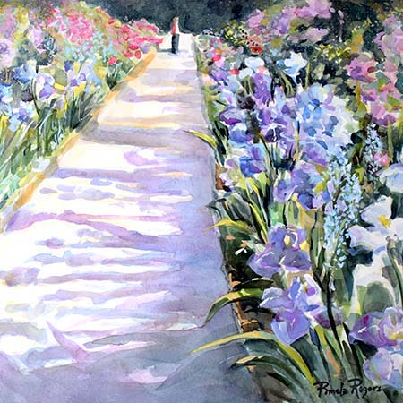 The garden path - Pamela Jane Rogers - Visual Artist & Author