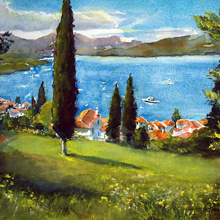 View from the Milo, Poros - Pamela Jane Rogers - Visual Artist & Author